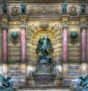 Fontaine Prints - Fontaine Saint Michel Print by Douglas J Fisher