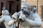 Art Sculptures Photos - Fontana del Moro in Piazza Navona. Rome by Bernard Jaubert
