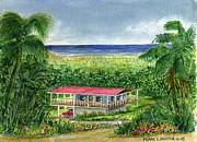 Puerto Rico Paintings - Foothills of El Yunque Puerto Rico by Frank Hunter
