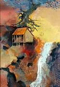 Interpretive Paintings - Forest Bungalow by Gary Partin