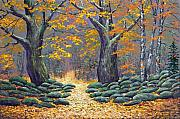 Vermont Autumn Originals - Forest Light by Frank Wilson
