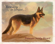 Working Dogs Framed Prints - Forever in My Heart Framed Print by Laurie Cook