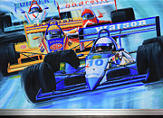 Sports Murals Paintings - Formula1 Wall Mural by Hanne Lore Koehler