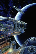 Science Fiction Paintings - Foundation Trilogy by Don Dixon