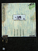 Keys Mixed Media Framed Prints - Four Framed Print by Roberta Rose