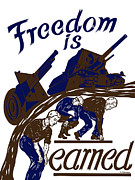 Works Progress Administration Art - Freedom Is Earned by War Is Hell Store