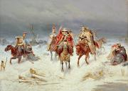 Bogdan Willewalde - French Forces Crossing the River...