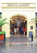 French Quarter Prints - French Quarter French Market Entrance New Orleans Film Grain Digital Art Print by Shawn OBrien