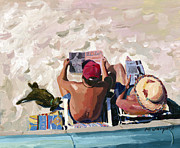 Tropez Paintings - Frenchie in Saint-Tropez by Michael Jacques