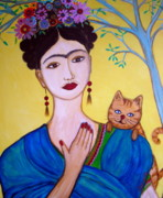 Pristine Cartera Turkus - Frida And Her Cat