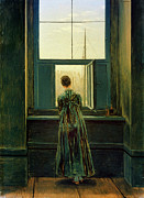 Caspar Prints - Friedrich Woman 1822 Print by Granger