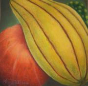 Harvest Pastels Metal Prints - From the Harvest Metal Print by Angelina G T