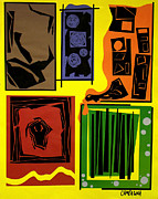 Cut Paper Tapestries - Textiles Posters - Frustration Poster by Teddy Campagna