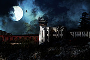 Wingsdomain Art and Photography - Full Moon Over Hard Time - San Quentin...