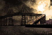Wingsdomain Art and Photography - Full Moon Surreal Night At The Bay Area...