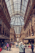 Shopping Photo Framed Prints - Galleria Vittorio Emanuele Framed Print by Benjamin Matthijs