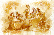 Steampunk Posters - Garden Party Poster by Brian Kesinger