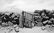 Uros Island Photo Acrylic Prints - Gate Overlooking Lake Titicaca Acrylic Print by Darcy Michaelchuk