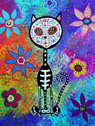 Pristine Cartera Turkus - Gato Day Of The Dead