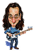 Bassist Metal Prints - Geddy Lee Metal Print by Art