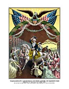 Us Presidents Mixed Media Prints - General Washingtons Reception At Trenton Print by War Is Hell Store