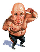 Person Paintings - George The Animal Steele by Art