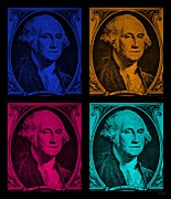 Patriots Posters - GEORGE WASHINGTON in COLORS Poster by Rob Hans