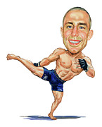 Georges Pierre Posters - Georges St. Pierre Poster by Art  