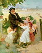 Pleading Framed Prints - Going to the Fair Framed Print by Frederick Morgan