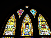 Featured Glass Art Prints - Gold Stained Glass Window Print by Thomas Woolworth