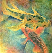 Japanese Prints - Goldfish Print by Robert Hooper