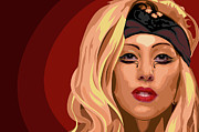 Lady Gaga Painting Posters - Googoo for Gaga Poster by Nathaniel Price