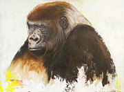 Ape Mixed Media Posters - Gorilla Poster by Anthony Burks