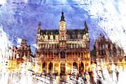 Bruxelles Posters - Grand Place Poster by Andrea Barbieri