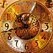 Clock Hands Metal Prints - Grandfather Time HDR Metal Print by Robert Harmon