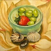 Grapes And Shells Fine Art Print by Denise Ivey Telep