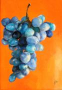 Diane Kraudelt - Grapes on Orange