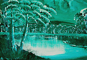Kate Farrant - Green and White Landscape