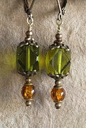 Daytime Jewelry - Green n Gold by Jan  Brieger-Scranton