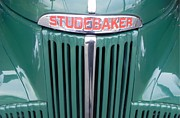 Antique Pick Ups Prints - Green Studebaker Truck Print by Chuck Re