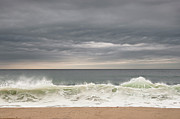 Green Clouds Prints - Green Wave Print by Kevin Bergen