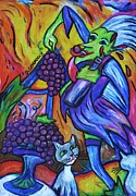 Grapes Pastels - Green Witch With Sour Grapes by Dianne  Connolly