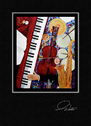 Pianos Paintings - GREETING CARD - Time To Play by Andrew Wells