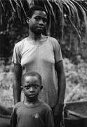 Tribe Prints - Guardian Mum and Son Print by Muyiwa OSIFUYE