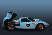 Photomanipulation Photo Prints - Gulf GT40 Print by Bill Dutting