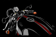 Motorcycle Drawings - Guzzi by Jeremy Lacy