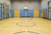 Basketball Court Prints - Gymnasiumsports Hall In A Modern Print by Iain  Sarjeant