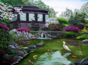 Laura Iverson - Hakone Gardens Pond in the Spring