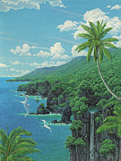 Hana Paintings - Hana Coast by Richard Fields