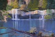 Hanging Pastels Originals - Hanging Lake by Heather Coen